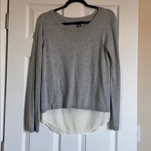 Layered grey and white top